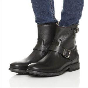 New Frye Black Tyler Leather Engineer Boots 6.5